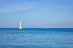 Lighthouse in sea Royalty Free Stock Images