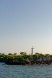 Lighthouse on sea cliffs Stock Image