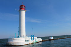 Lighthouse at the sea cost Royalty Free Stock Image