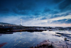 Lighthouse by sea Royalty Free Stock Photos