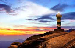 Lighthouse by the sea Royalty Free Stock Photos