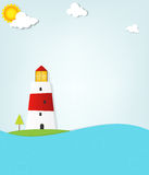 Lighthouse by the sea Royalty Free Stock Image