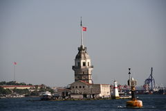 Lighthouse in the sea, Istambul Royalty Free Stock Images