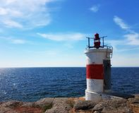 Lighthouse. By the sea    ocean view Royalty Free Stock Image