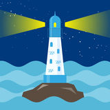 Lighthouse in a sea on scare. Royalty Free Stock Photography