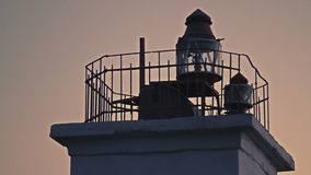 Lighthouse on the seafront stock footage