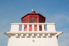 Lighthouse and the SeaGull Royalty Free Stock Photography