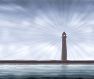 Lighthouse on the seashore Royalty Free Stock Photos