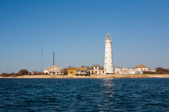 Lighthouse on the seashore Royalty Free Stock Photography