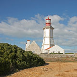 Lighthouse in Sesimbra, Portugal. Royalty Free Stock Photo