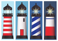 Lighthouse set Stock Photo