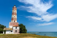 Shabla cape and the oldest lighthouse in Bulgaria Stock Images