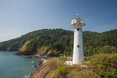 Lighthouse shines on Koh Lanta navigation. Navigation Lighthouse on Lanta in Thailand Royalty Free Stock Photography