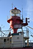 Lighthouse on ship, moored at the port of Goteborg stock photos
