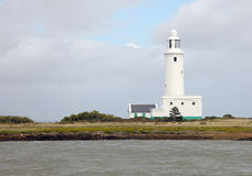 Lighthouse on the shore Royalty Free Stock Photography