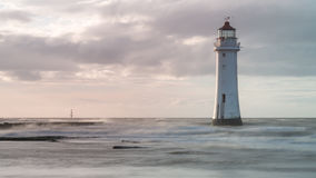 Lighthouse by the shore of New Brighton, UK Royalty Free Stock Photo