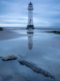 Lighthouse by the shore of New Brighton, UK Stock Image