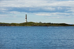 Lighthouse. On the shore, Norway Royalty Free Stock Photos