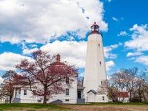 Lighthouse on Shore Stock Photos