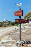 Lighthouse sign on the cies islands Royalty Free Stock Photos