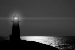 Lighthouse in Silhouette royalty free stock photography