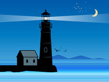Lighthouse silhouette vector illustration