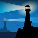 Lighthouse Silhouette Royalty Free Stock Photography