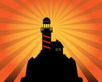 Lighthouse silhouette abstract Royalty Free Stock Photo