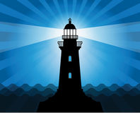 Lighthouse silhouette Royalty Free Stock Photos