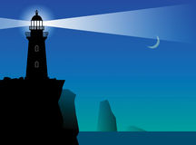 Lighthouse silhouette royalty free illustration