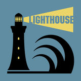 Lighthouse silhouette Stock Images