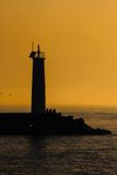 Lighthouse Silhouette Stock Photography