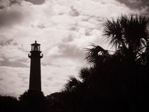 Lighthouse silhouette West Florida. Lighthouse in West Palm Beach stock images