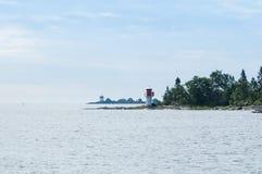 Lighthouse Singo Stangskar Sweden Stock Image