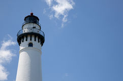 Lighthouse with a sky background and copy space Stock Photo