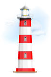 Lighthouse with sky and clouds Stock Images