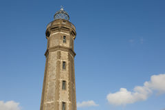 Lighthouse and sky in Faial island. Ponta dos Capelinhos. Azores Stock Photos