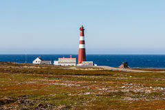 Lighthouse Slettnes. Lighthouse from Slettnes.Norway. Slettnes is the northernmost mainland lighthouse in the world Royalty Free Stock Images
