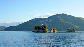 Lighthouse on small rock in Seto Inland Sea Stock Photography