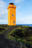 Lighthouse in Snaefellsnes, Iceland. Lighthouse at Londrangar. Snaefellsness peninsula, Iceland royalty free stock photo