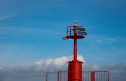 Lighthouse with solar panel Royalty Free Stock Images