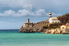 Lighthouse of Soler, Mallorca, Spain Royalty Free Stock Images