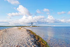 Lighthouse Sorve in Estonia Royalty Free Stock Image