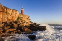 Lighthouse South Head Hor Surf Stock Photo