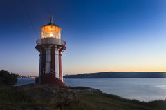 Lighthouse South Head Rise Close Royalty Free Stock Photography