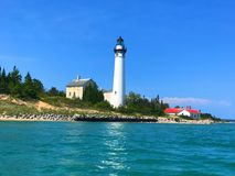Lighthouse on South Manitou Island. South Manitou, Michigan, USA - July 31, 2017: Lighthouse on South Manitou Island Stock Photography