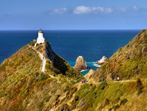 Lighthouse, Southern Pacific Ocean Coast Stock Photo