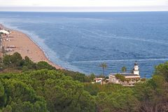Lighthouse in Spain, Calella Stock Images