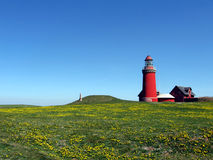 Lighthouse in the spring time Royalty Free Stock Images