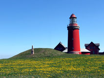 Lighthouse in the spring time Royalty Free Stock Photos